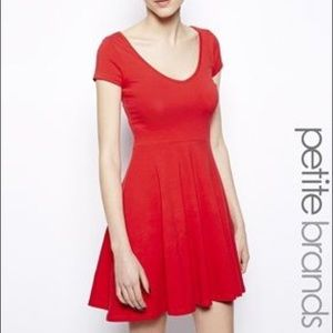 New Look Petite Red Skater Dress